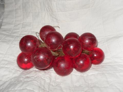 Vintage Red Lucite Grapes