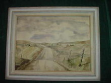 Signed Original Watercolor Painting w/Matching Frame