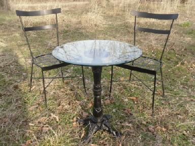 Vintage Wrought Iron Table & Chairs Set