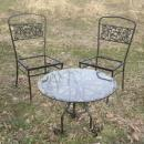 Vintage Wrought Iron Table & Chairs   **Stylized /Birds**