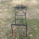 Vintage Wrought Iron Chair w/Roses