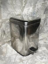 Vintage Stainless Steel Flip Top Waste Basket