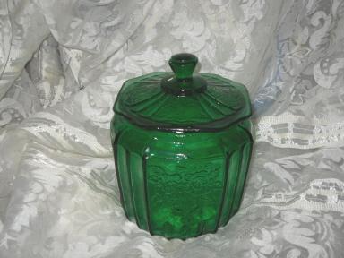 Vintage Mayfair Glass Cookie Jar