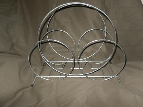 Vintage Mid Century Modern Industrial Wire Rack