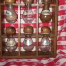 Vintage Wooden Spice Holder w/12 Spice Bottles