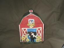 Vintage Country Barn Cookie Jar