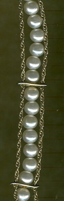 Faux Pearl Bracelet by Goldette