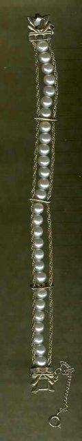 Faux Pearl Bracelet by Goldette