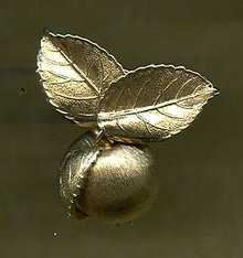 Gold Tone Cherry Pin by Napier