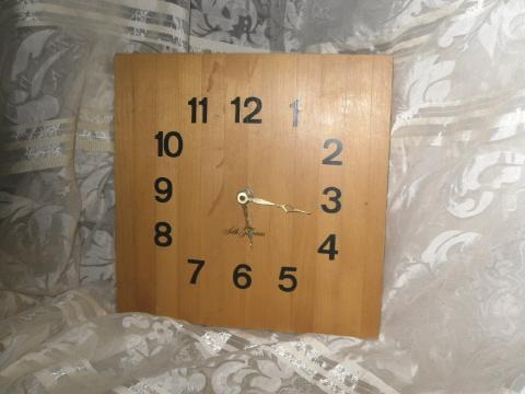 Seth Thomas Butcher Block Clock