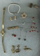 12 Piece Vintage Jewelry Lot   Bar Pin*Watch