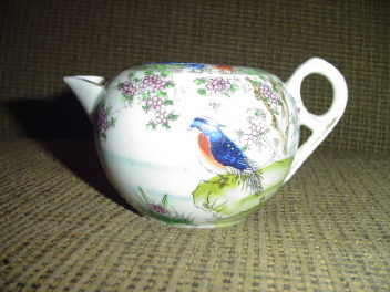Hand Painted Bird Scene Creamer