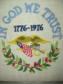1776 - 1976 Framed Needlepoint