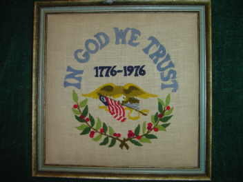 1776 - 1976 Framed Needlepoint