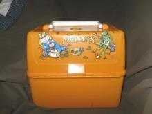 Vintage 1981 Muppets Orange Plastic Lunch Box