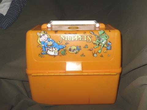 Vintage 1981 Muppets Orange Plastic Lunch Box