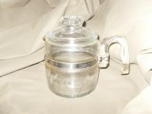 Vintage Pyrex Glass Coffee Percolator Pot
