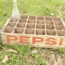 Vintage Pepsi Cola Soda Pop Wood Crate