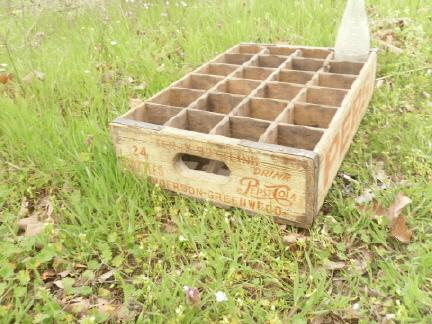 Vintage Pepsi Cola Soda Pop Wood Crate