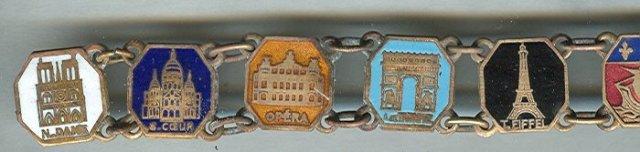 Copper & Enamel Link Bracelet