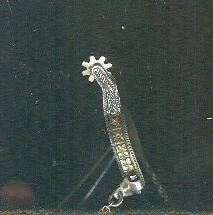 Vintage Holland Miniature Spur  14 kt Gold & Sterling Silver