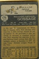 Rich Gossage Rookie Card