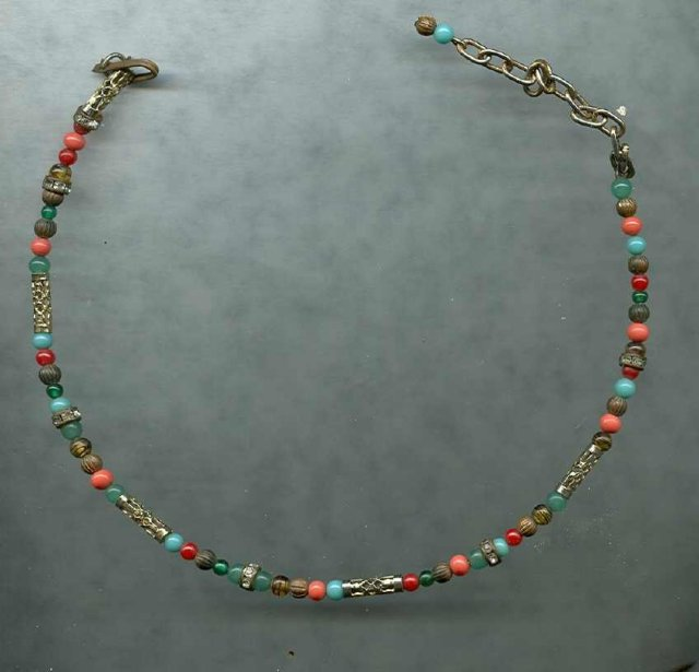 Child's Antique Glass Bead Necklace
