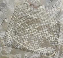 Vintage Industrial Mid Century Modern Metal Wire Basket