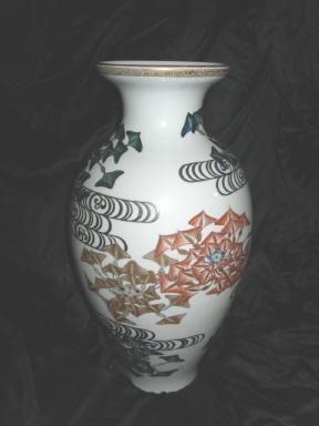 Vintage Large Oriental Porcelain Vase
