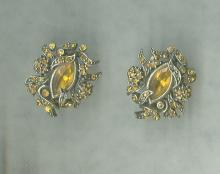 Vintage Hollycraft 1950 Earrings