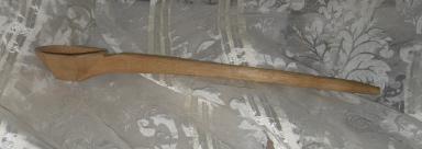 Vintage Hand Carved Wooden Ladle