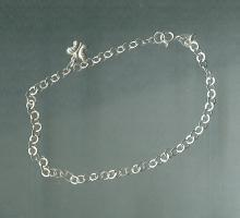 Sterling Silver Bracelet with Butterfly Charm