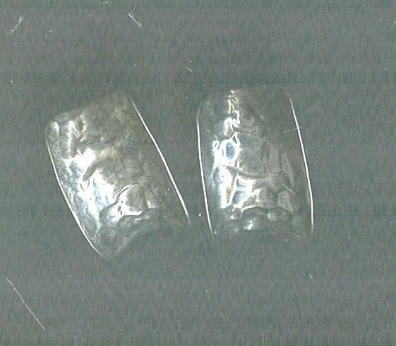 Hammered Silver James Avery Style Earrings