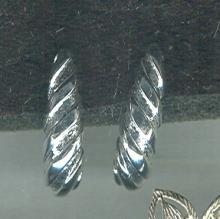 Silver James Avery Style Shell Earrings