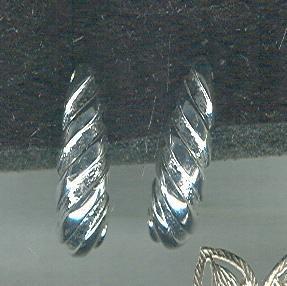 Silver James Avery Style Shell Earrings