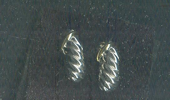 Silver  & Gold James Avery Style Shell Earrings