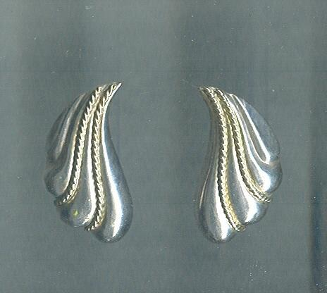 Sterling Silver & Gold Puffed Shell Earrings