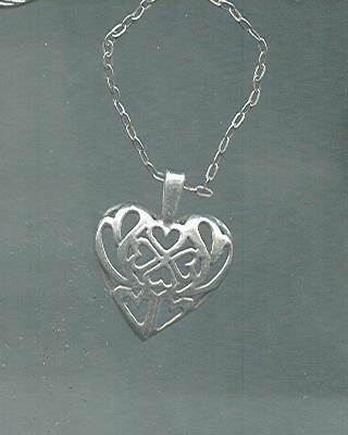 Sterling Silver Chain w/Heart Pendant