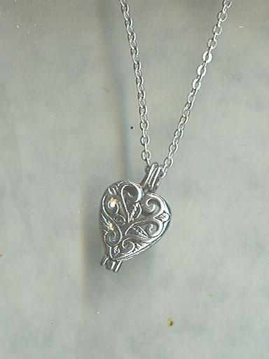 Sterling Silver Chain w/Heart Locket