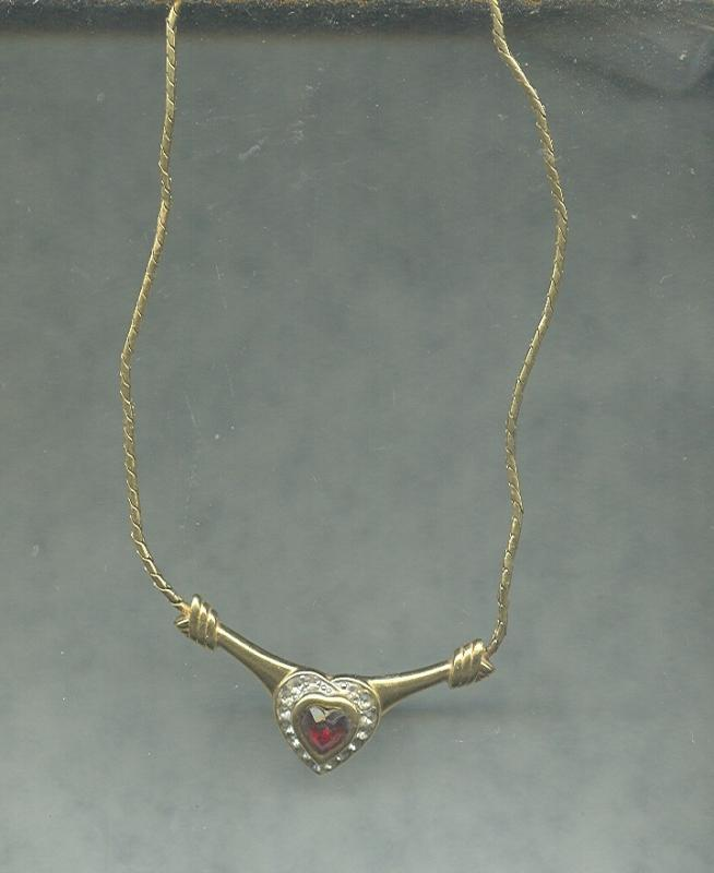 Vintage Monet Heart Necklace.