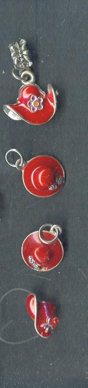 Ladies Red Hat Society Charm  *4 Charms**