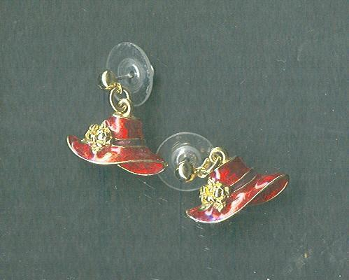 Ladies Red Hat Society Earrings