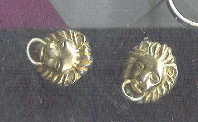 Lion Head Earrings