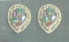 Large Colored Stone M. Jent Earrings