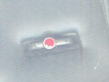 Sterling Silver Ring w/ Bright Pink Stone