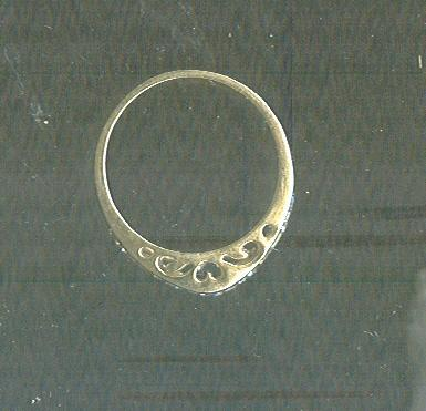 Gold Band with Cut Out Heart Details