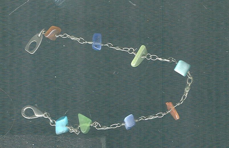 Silver & Shell Bracelet