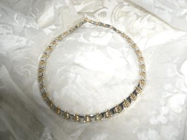 Silver & Gold Wide Link Necklace