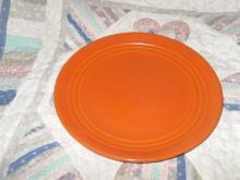 Vintage Bauer Pottery Ringware Red Dinner Plate