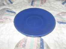 Vintage Bauer Pottery Ringware Saucer Cobalt Blue